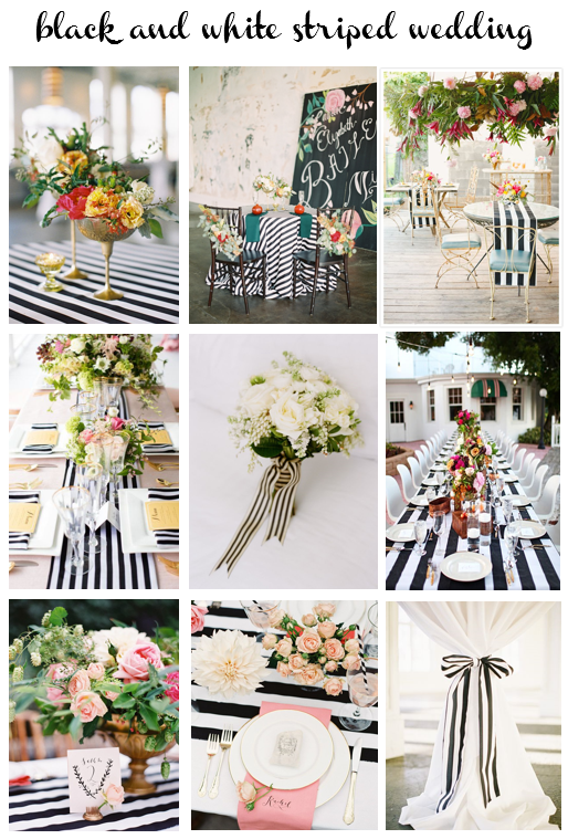 b&w striped wedding