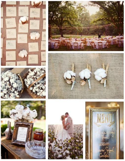 cotton boll wedding