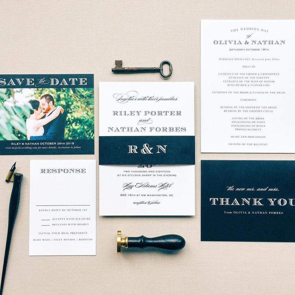 acrylic wedding invitations | Raleigh Wedding Planner