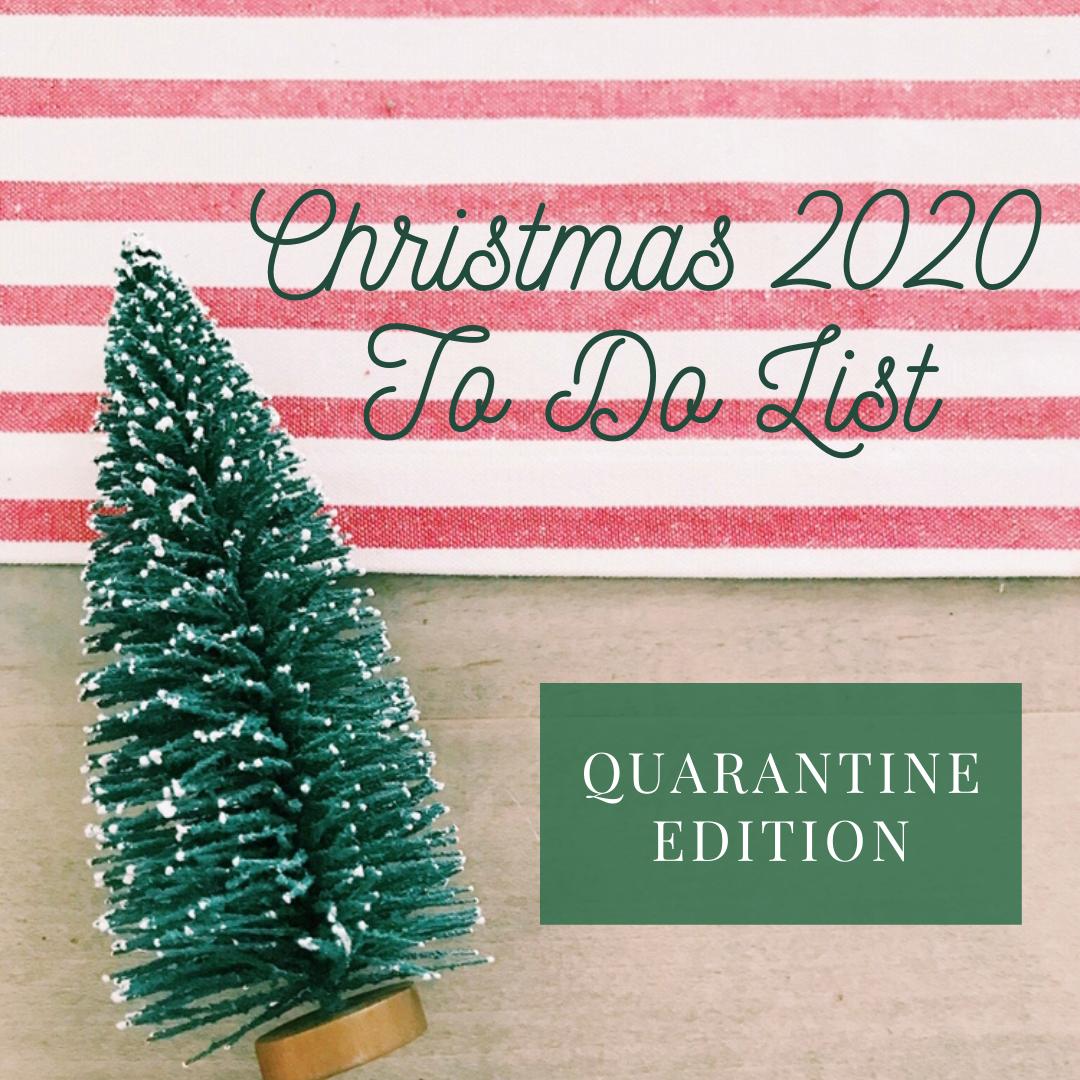 Christmas 2020 To Do List