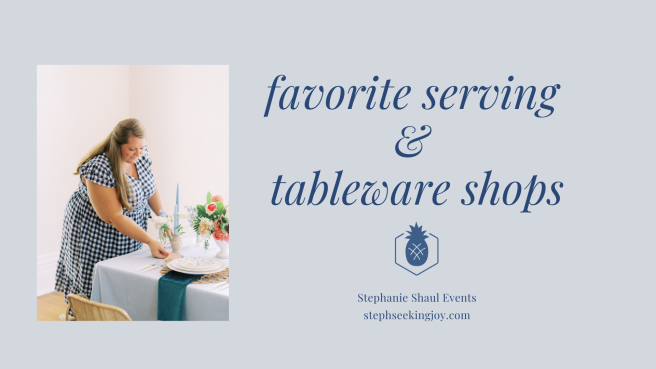 serving and tableware shops